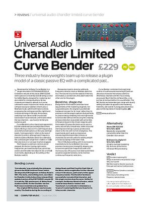 Computer Music Universal Audio Chandler Limited Curve Bender