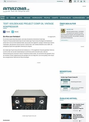 Amazona.de Test: Golden Age Project Comp-3A, Vintage Kompressor