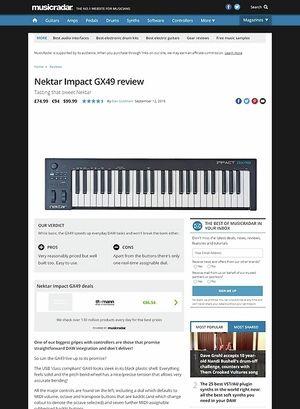 MusicRadar.com Nektar Impact GX49