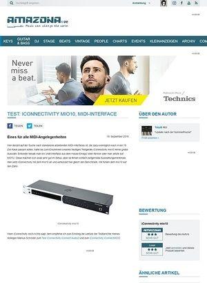 Amazona.de Test: iConnectivity mio10, MIDI-Interface