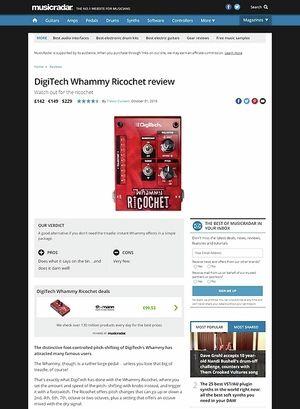 MusicRadar.com DigiTech Whammy Ricochet