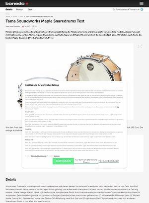 Bonedo.de Tama Soundworks Maple Snaredrums