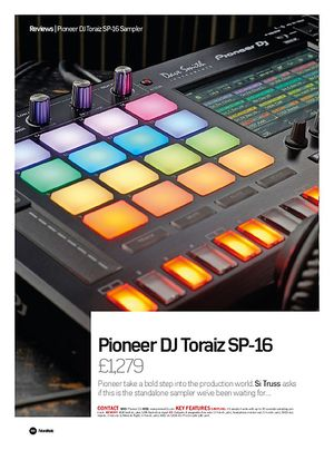 Future Music Pioneer DJ Toraiz SP-16