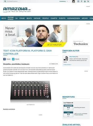 Amazona.de Test: Icon Platform M, Platform D, DAW-Controller