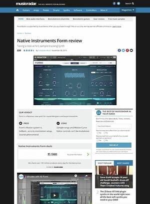 MusicRadar.com Native Instruments Form