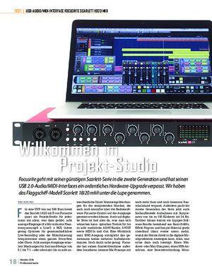Professional Audio Focusrite Scarlett 18i20 2nd Gen