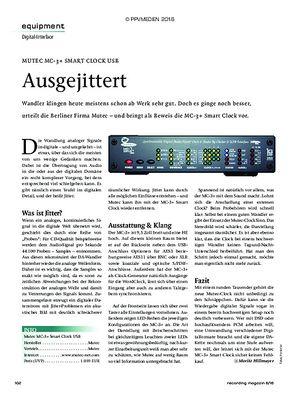 Recording Magazin MUTEC MC-3+ SMART CLOCK USB