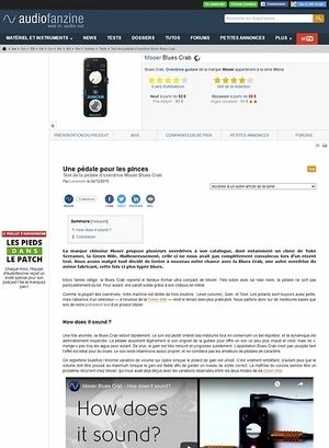 Audiofanzine.com Mooer Blues Crab