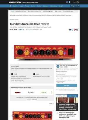 MusicRadar.com Markbass Nano 300 Head