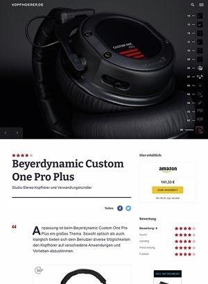 Kopfhoerer.de Beyerdynamic Custom One Pro Plus