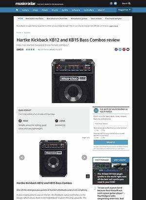 MusicRadar.com Hartke Kickback KB12 and KB15 Bass Combos