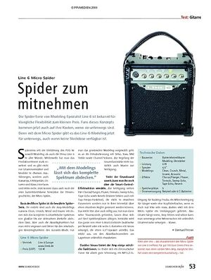 Soundcheck Test: Line 6 Micro Spider