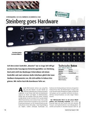 Recording Magazin Steinberg CC121 / MR816 X / MR816 CSX: Steinberg goes Hardware