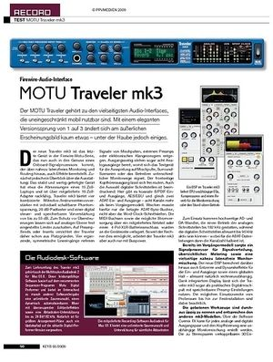 KEYS MOTU Traveler mk3