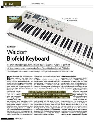 KEYS Waldorf Blofeld Keyboard
