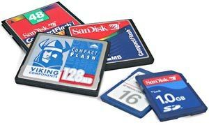 Compact Flash and SD cards
