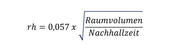 Formel für den Hallradius