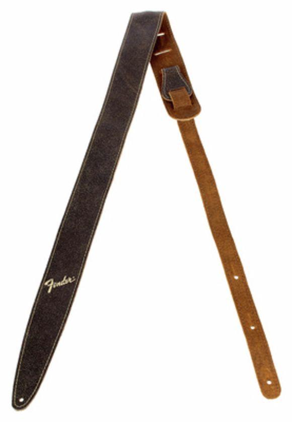 Distressed Leather Strap BRN Fender