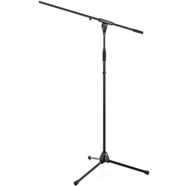 K/&M 210-2B Pied de sol avec perche pour Microphone 840 mm Noir