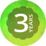 3 vuoden Thomann-takuu