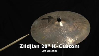 Zildjian K-Custom 20 Left Side Ride