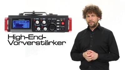 Tascam DR-701D - mobiler 6-Kanal DSLR Audiorecorder